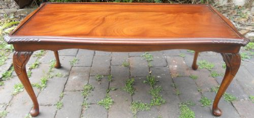Long Mahogany Coffee Table by Reprodux